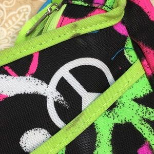 Justice Bags - Justice Colorful Peace Tote Crossbody Bag